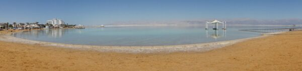 Israel - Dead Sea, Beach Panorama At Ein Bokek