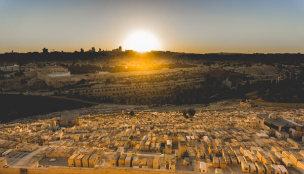 Israel - Jerusalem, Jewish Cemeteries Sunset View
