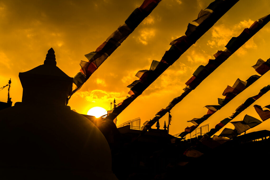 Sunset at Boudhanath Stupa