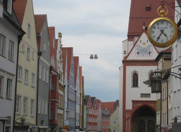 Landsberg Am Lech, Clock And Houses