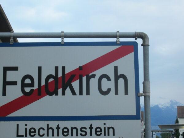 Liechtenstein, Entrance Sign