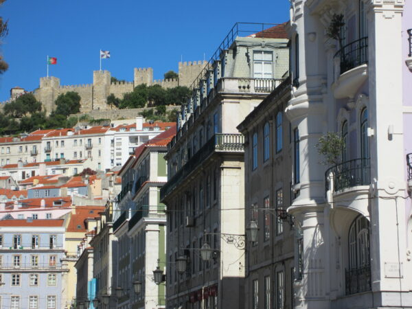 Lisboa, View From Street To Castle