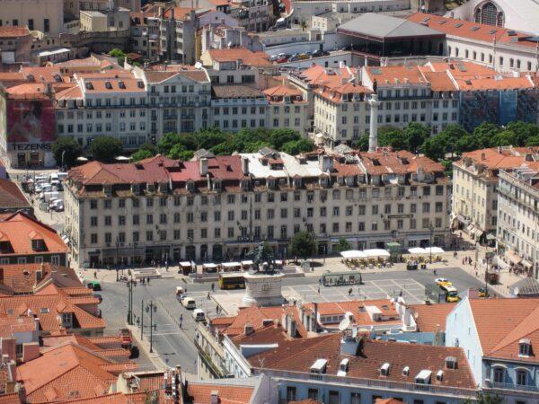 Lisboa, View To Mainsquare
