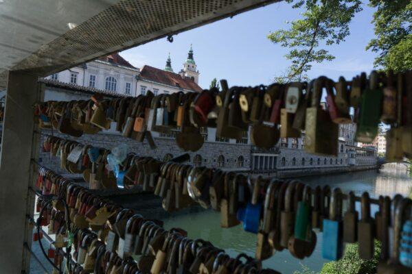 Ljubljana, Love Padlocks On The Butchers Bridge