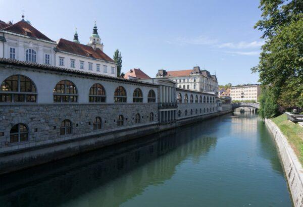 Ljubljana, View From Butchers Bridge