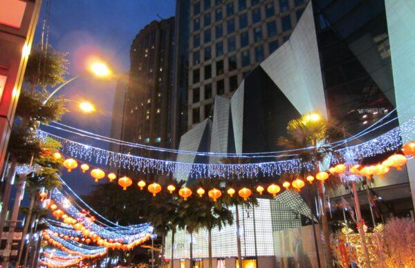 Malaysia, Main Street At Night In Kuala Lumpur