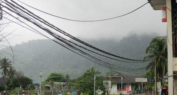 Malaysia - Tioman Island, Hills In Fog