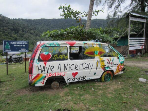 Malaysia - Tioman Island, Have A Nice Day Bus