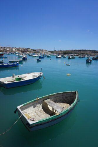 Malta Marsaxlokk Boats