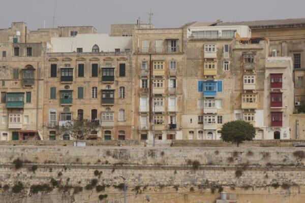 Malta - Valetta, House Front
