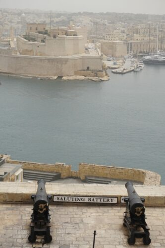 Malta - Valetta, Saluting Battery
