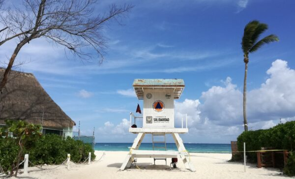 Mexico - Yucatan, Playa Del Carmen Lifeguard Tower