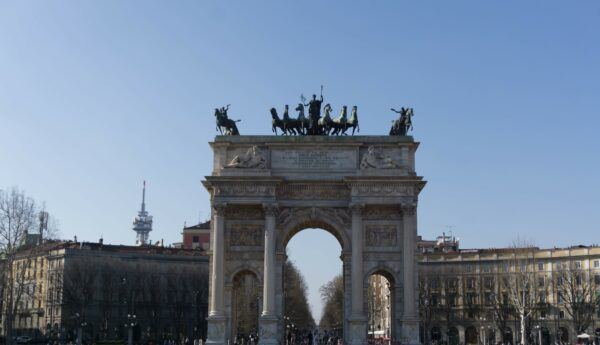 Milan, Arco Della Pace Front View