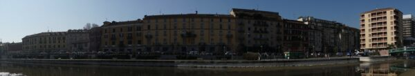 Milan, Panorama View At Darsena Del Naviglio