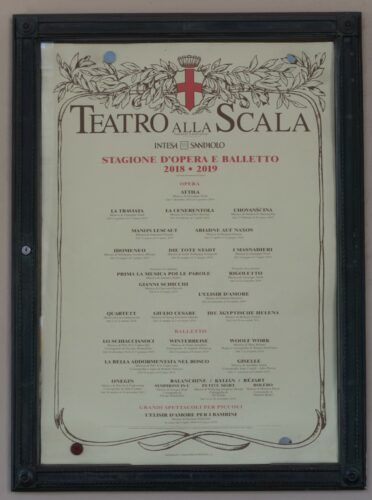 Milan, Teatro Alla Scala Announcement