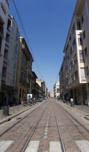 Milan, Tram Rails At Corso Di Porta Ticinese