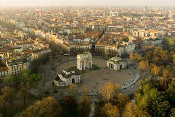 Milan, View To Arco Della Pace