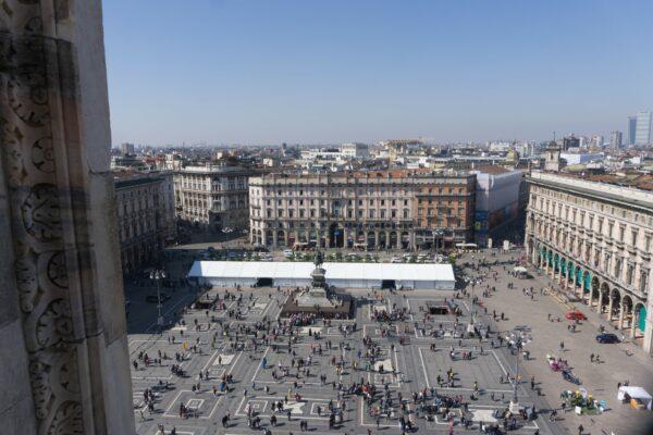 Milan, View To Piazza Del Duomo
