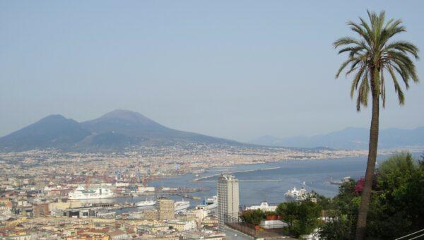 Napoli, View To Vesuvio