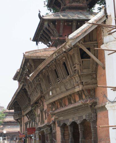Nepal, House Front At Kathmandu Durbar Square
