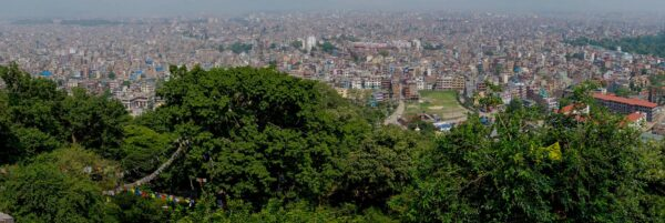 Nepal, Kathmandu City Panorama