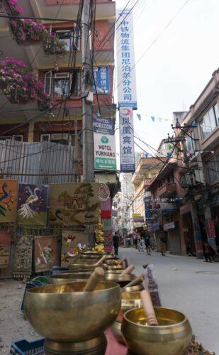 Nepal - Kathmandu, Singing Bowls At Thamel