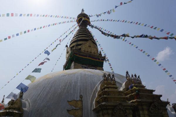 Nepal - Kathmandu, Swayambhunath Stupa (Monkey Temple)