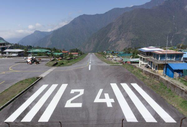 Nepal, Lukla Airfield View
