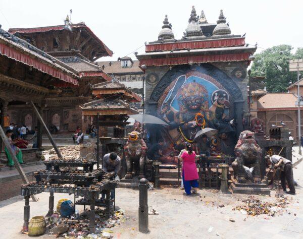 Nepal, Prayers At Kathmandu Durbar Square