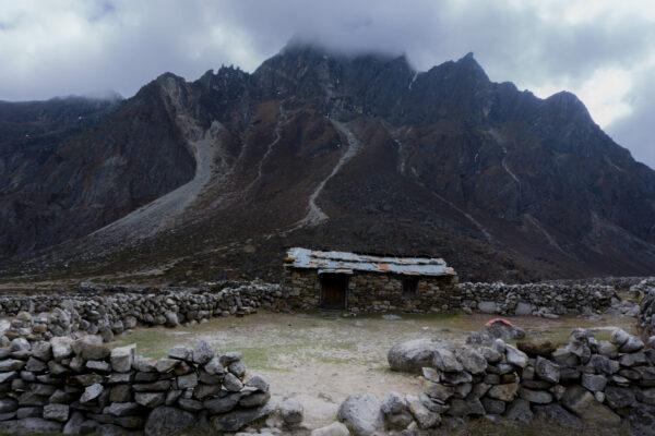 Nepal, Stone House Close To Pheriche