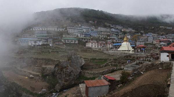 Nepal, Stupa At Namche Bazaar