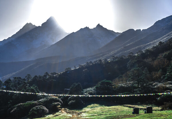 Nepal, Sunrise At Tengboche