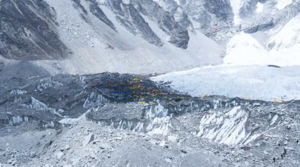 Nepal, Tends At Everest Basecamp Glacier