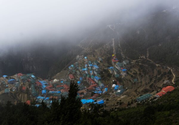 Nepal, View To Namche Bazaar