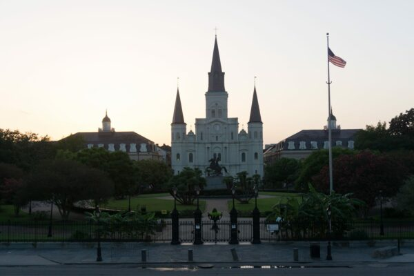 New Orleans, St. Louis Cathedral In French Quarter