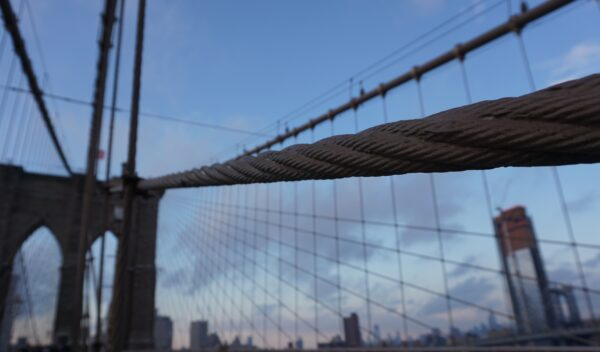 New York, Brooklyn Bridge Wire Ropes