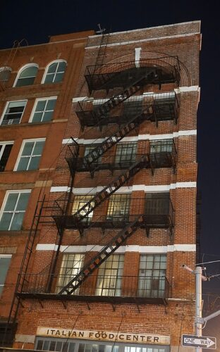 New York, Italian Food Center Fire Stairs