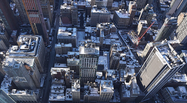 New York, View From Top Of Empire State Building