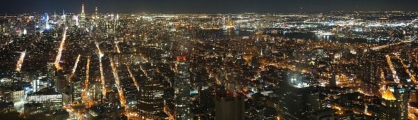 New York, View From One World Trade Center At Night