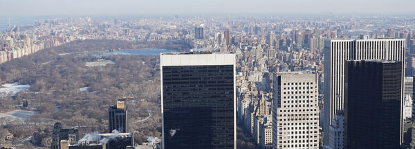 New York, View From Rockefeller Center Top Of The Rock To Central Park