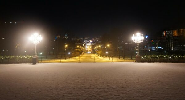 Oslo, View From The Royal Palace To City Center