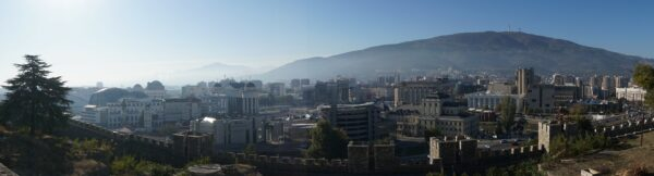 Panorama View From Skopje Kale Fortress