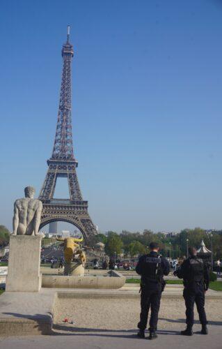 Paris, Eiffel Tower And Policemen