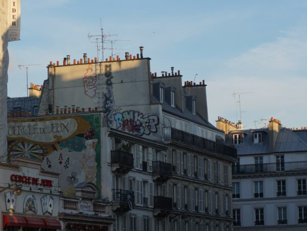 Paris, Graffiti On House