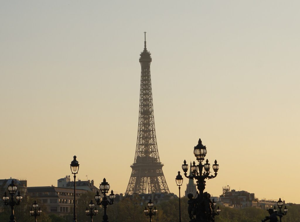 Paris, Lamps In Front Of Eiffel Tower