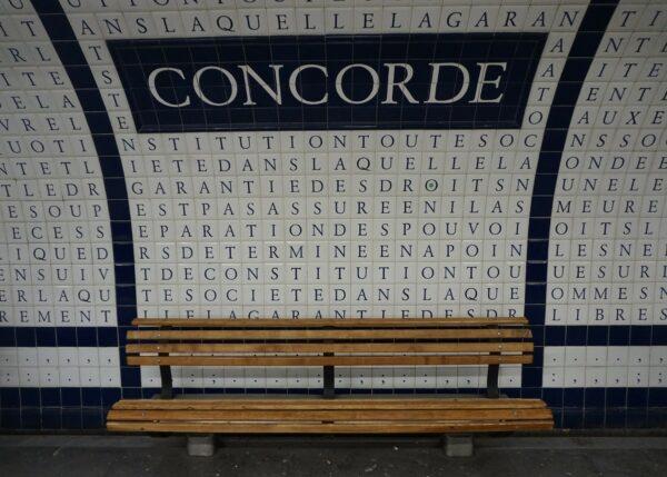 Paris, Metro Station Concorde
