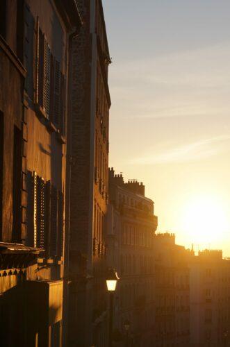 Paris - Montmartre, Sunset House Front