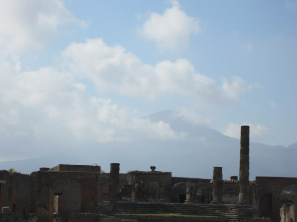 Pompeji, View To Vesuvio