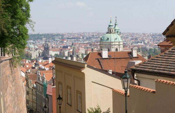 Prague Castle To City Panorama View