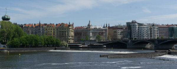 Prague, Houses Next To Vltava River